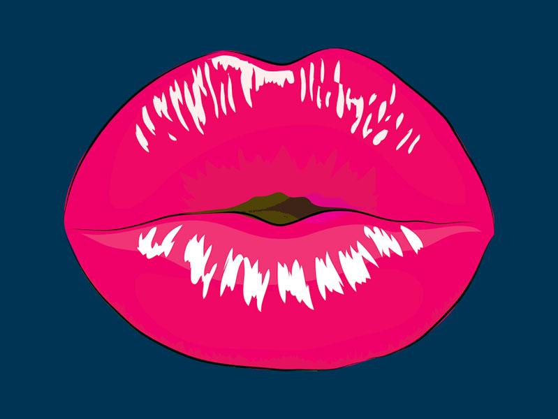 Full lips to illustrate Botox lip flip